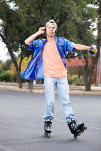 Young Man dancing on Skates